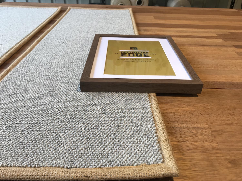 Definitive Edge Half-Width Tape Binding in JUTE